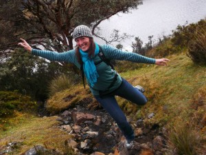 Hiking in Cajas National Park in Ecuador