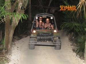 Amphibian Vehicle Fun at Xplor in Cancun