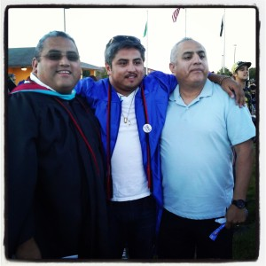 My brothers and I... little brother continuing his education