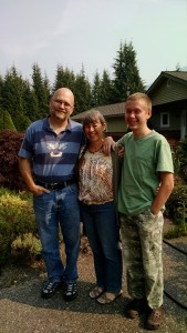My family outside of our Washington home