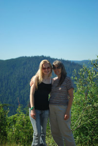 Here I am with my mom on Green Mountain above our house