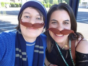 My sister-in-law, Ariel, & myself at LeakyCon in Portland