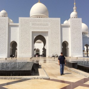 Me at the Grand Mosque Abu Dhabi visited while on Community Policing teaching assignment