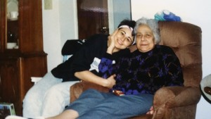 My grandmother, Marie with me