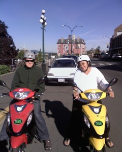My husband, Dan, and me in Victoria