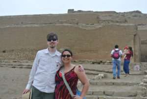 Visiting Pachacamac, Lima, Peru (with my husband.)