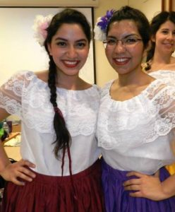 Arantxa learned to dance Latin American folkloric dances in college and annually performed at the Latin Cultural Show.