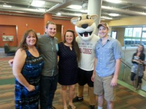 With WSU's mascot, Butch T. Cougar!