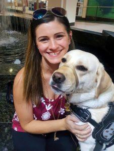 Tiffany with dog