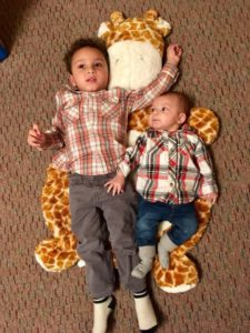 Tarin's 2-year-old boy and 4-month-old boy
