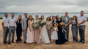 Jessica and family at her wedding September 2017