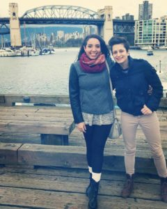 Jessica and her wife in Vancouver, BC