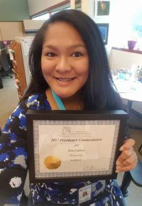 Andralia-Lei with President's Award