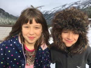 Elisha's children on Crystal Mountain