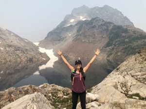Daniela on a hike
