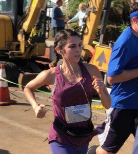 Daniela running in the Encinitas Half Marathon