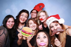 Photo booth picture with Kari and colleagues