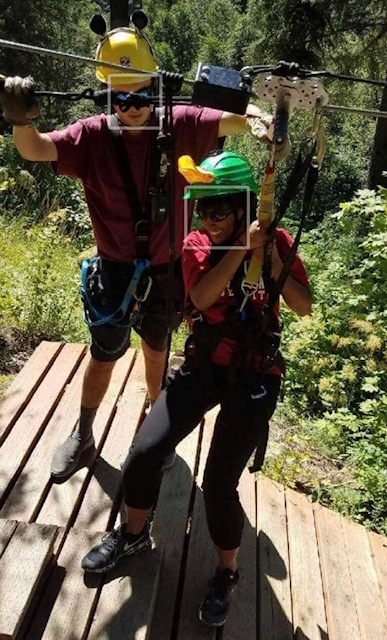 Ciera zip-lining in Leavenworth, WA