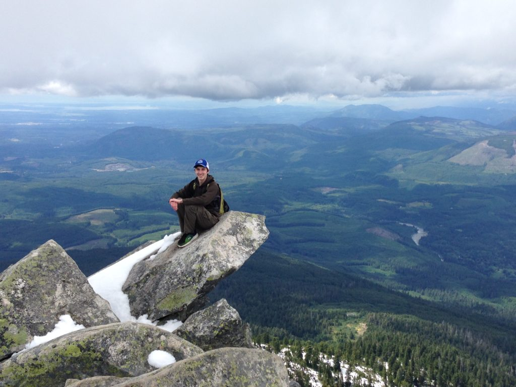 Trevor on the peak of Mount Pilchuck