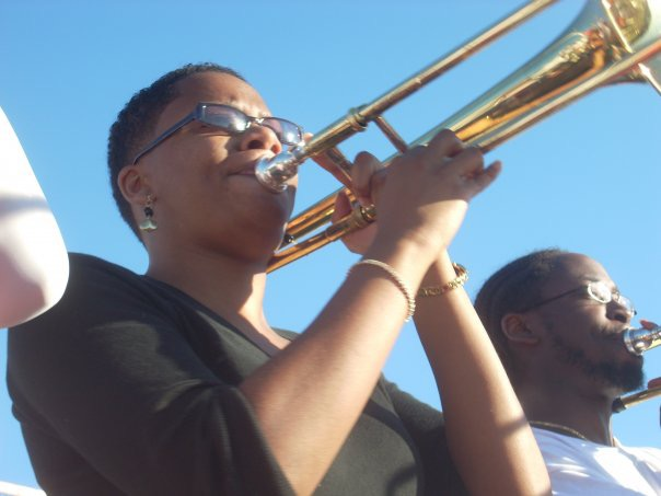 Daria playing trombone