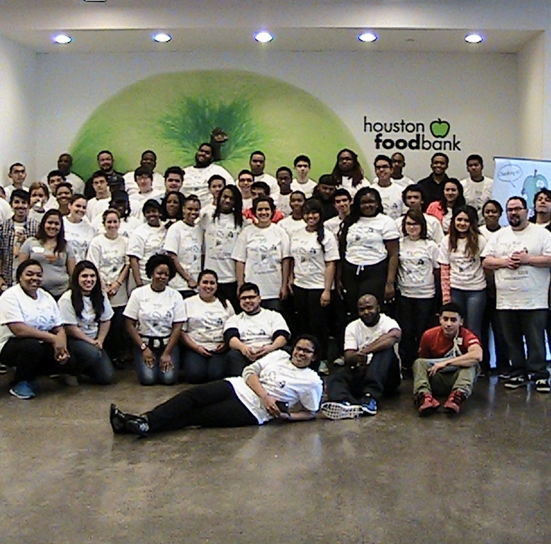Daria at the Houston Food Bank