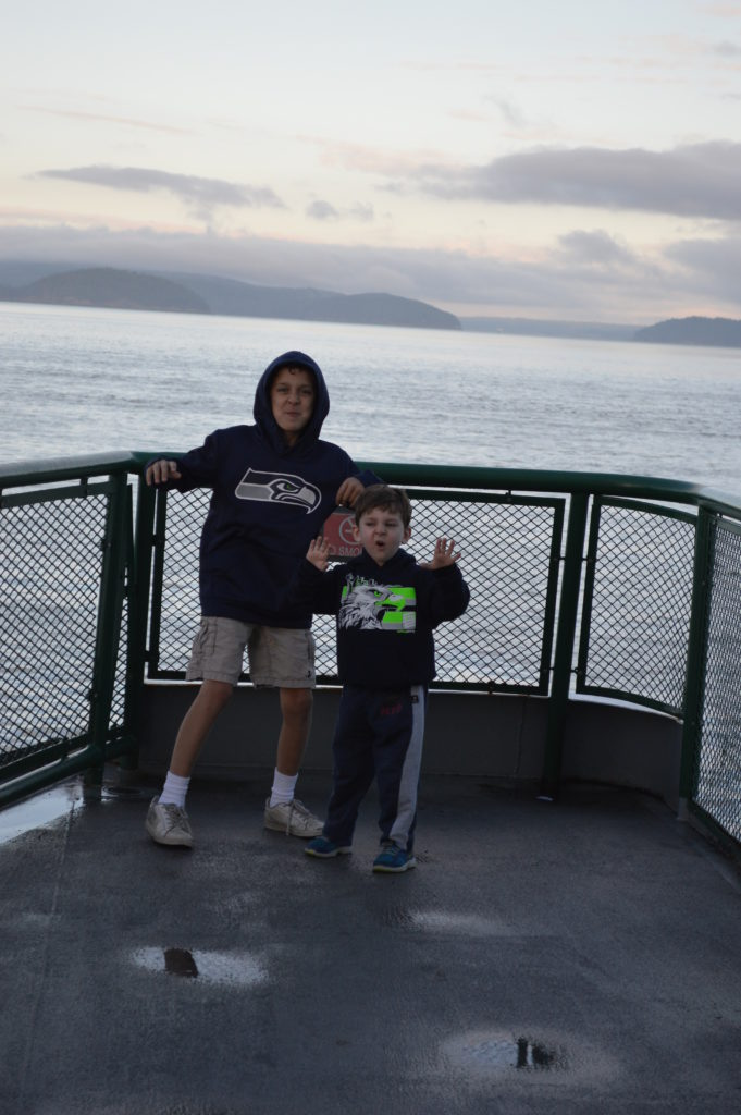 The Lovitt boys (Timmy and Ben) traveling to Friday Harbor